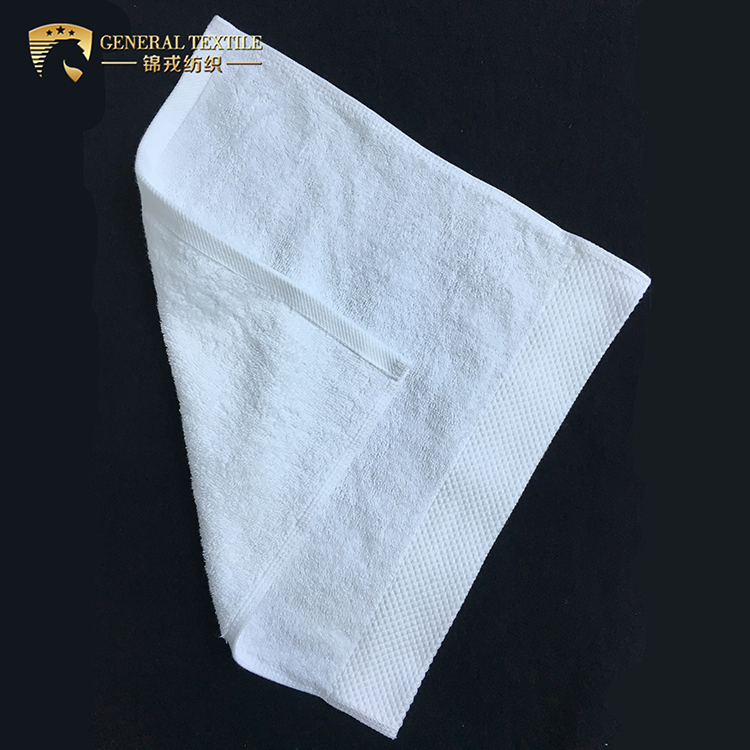100% Cotton Satin Band Personalized Softtextile Face Towel