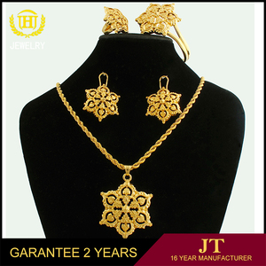 Big Promotion fashion jewelry sets beautiful jewelry set gold 18k gold plated