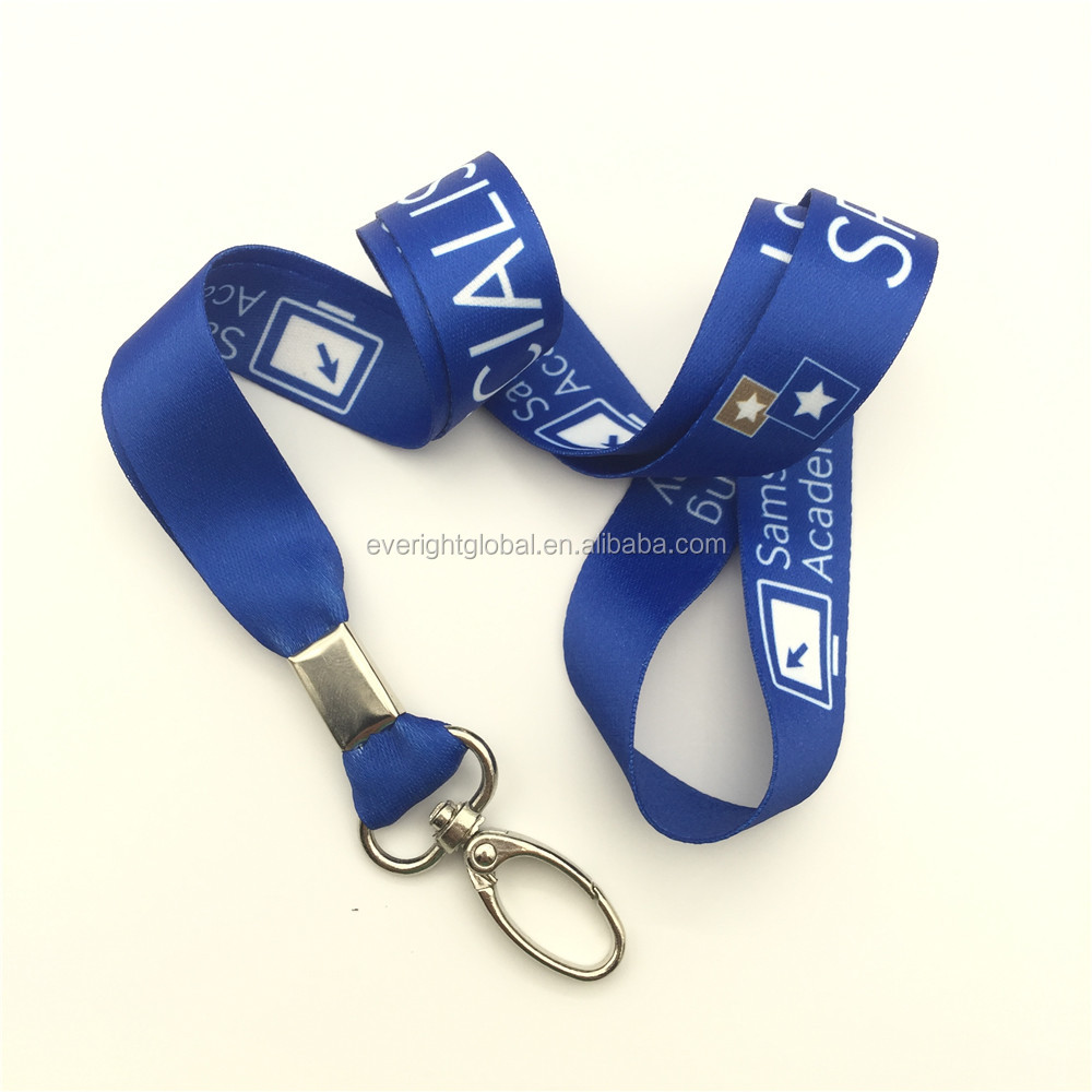 "F06103 Color Cheap Custom 3/4"" poylester customlogo heat transfer printed lanyard with J-hook"