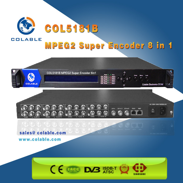 The Most Powerful sd cvbs ultra low bit rate mpeg2 Encoder 8 in 1, ip encoder multiplexer with 1 asi