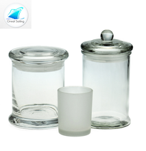 12oz 24oz wholesale sealable glass jars for candles