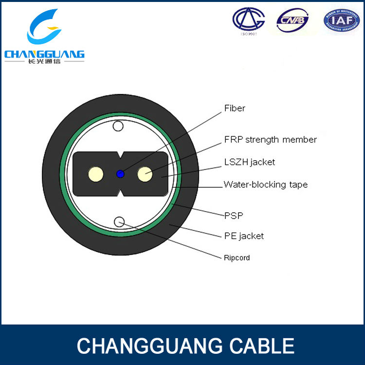 FTTH Cable for Duct GJXFHA/fiber optic cable clamp