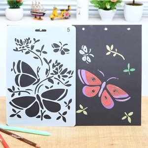 Excellent quality kids stencil drawing set for funny
