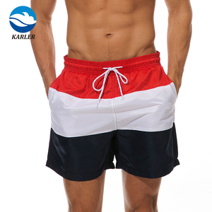 Custom 100% Polyester Comfortable men swim trunks board shorts