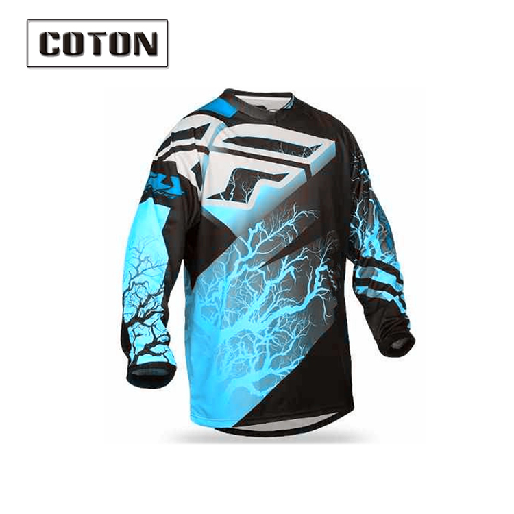 Popular wholesale mtb downhill clothes custom bmx jerseys