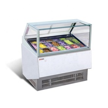 6pan ice cream showcase CE approved ice cream display freezer showcase popsicle refrigerator