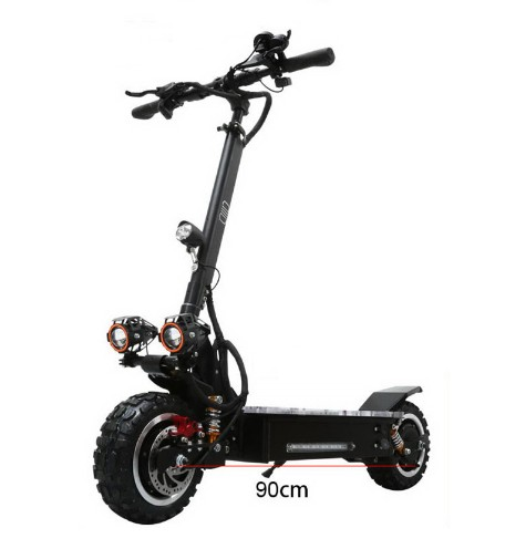 China 3200W dual motor powerful two wheel 11 inch fat tire off road electric scooter with removable seat