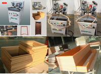Pneumatic picture frame assembly machine