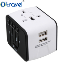 Electronic corporate best gift for partner cooperator business gift universal plug travel adapter with dual usb corporate gifts