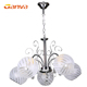 Hotel big black chrome antique waterford asfour modern amber crystals chandelier parts