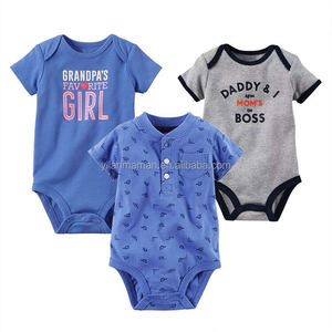 New arrival cheap price pure cotton fashion printing boy baby clothes romper