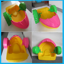 Manufacturer colorful kids hand paddle boat, water kids pedal paddle boat ,exciting swan pedal boat