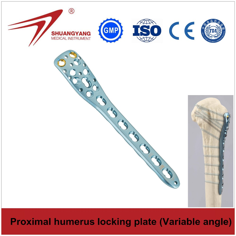 Proximal Humerus Locking Bone Plate (variable angle) - Titanium Orthopedic Implant
