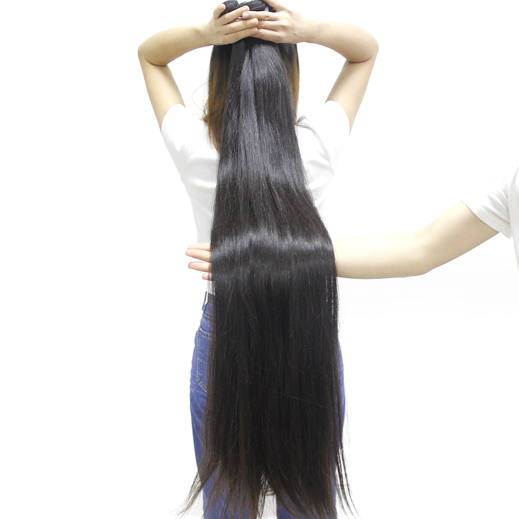 High Quality Unprocessed 42 44 46 48 50 inch Long Indian Temple Hair, Raw Virgin Indian Hair Cuticle Aligned Mink Hair фото