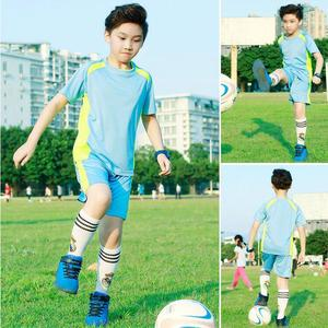High quality soccer team football jersey in stock wholesale kids soccer uniforms blank kids football kits customized