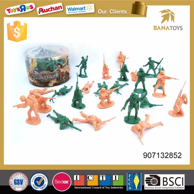 Military play set plastic toy soldier