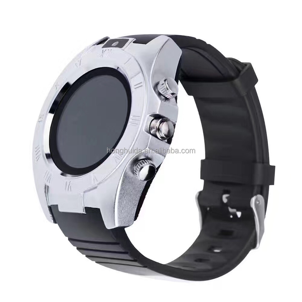 S5 round touch screen camera GSM mobile watch phones smart, gold smart watch and phone