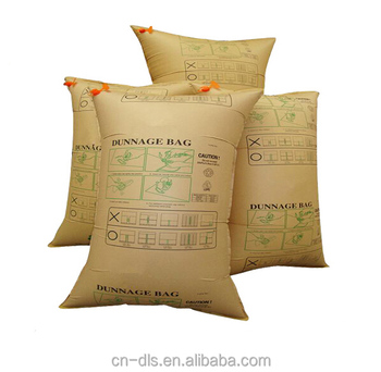 Inflatable kraft paper container dunnage air bag for railway transportation/cement
