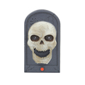 Electronic Frightful Animated Eyes Light Up Sounds Skull Door Bell Halloween Party Props Hunted Garden Decorations