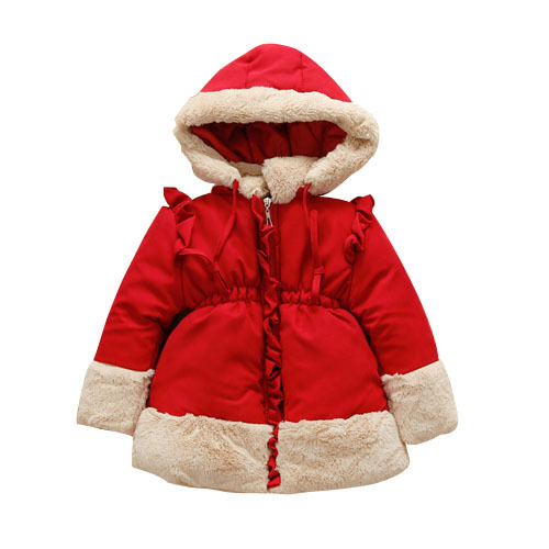 Children Warm Winter Coat Outerwear Clothing Girls Kids Faux Fur Hooded Coats & Jackets For Baby Girls Kids Winter Autumn 2015