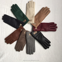 Personalized Classic Women Leather Gloves