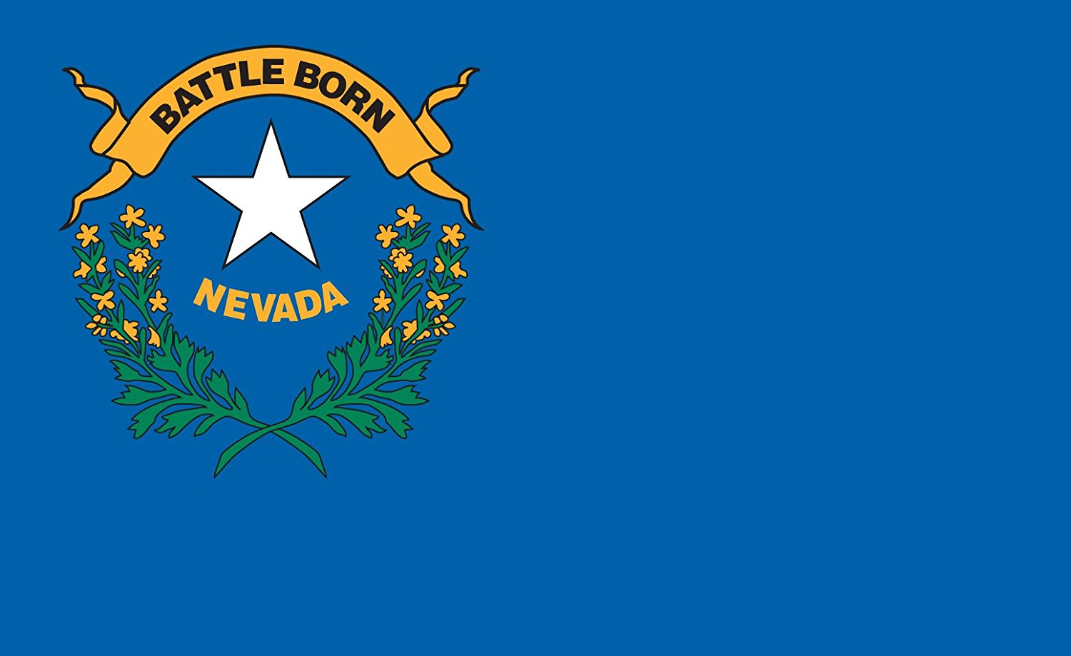 Gallopade Publishing Group Nevada Flag Sticker (9780635116604)