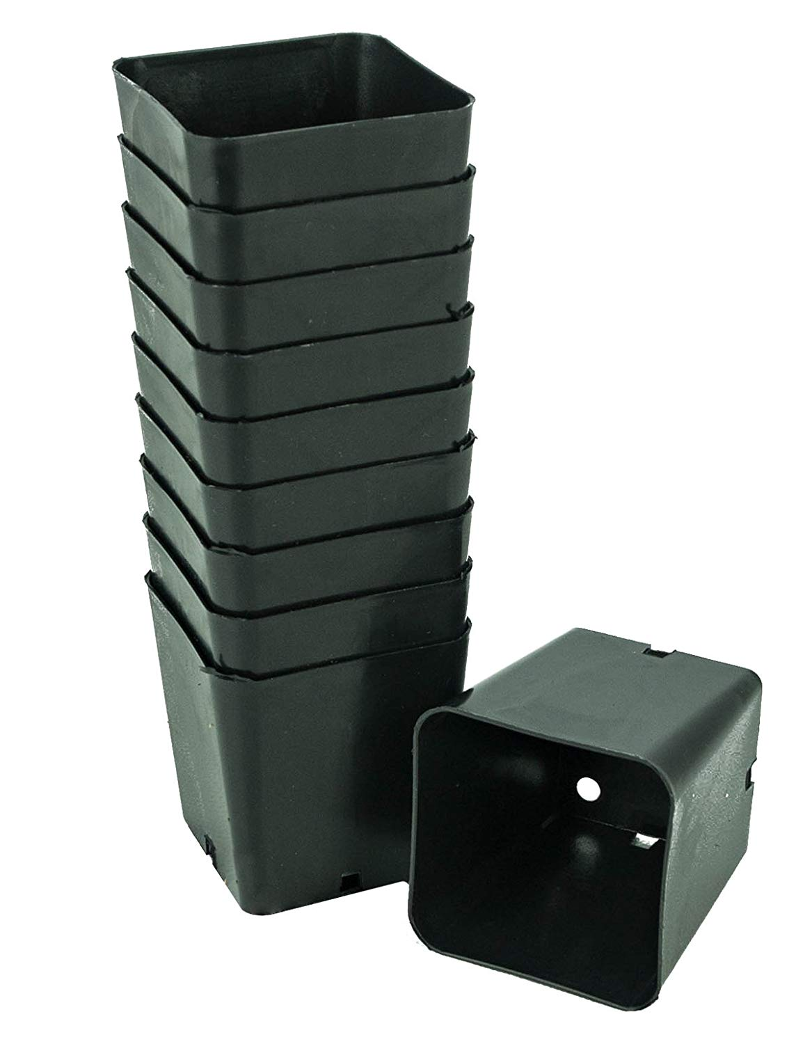 """Anderson Die & Manufacturing Heavy Duty Nursery Pots - Square 2.25"""" (Set of 10)"""