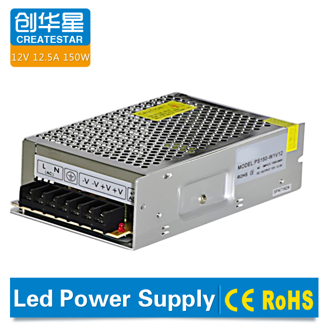 Factory price 150W 12v 24V led driver, waterproof led power supply for outdoor