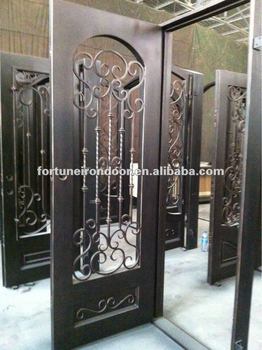 Decorative Swing Wrought Iron Door Window Panel Iron Gate