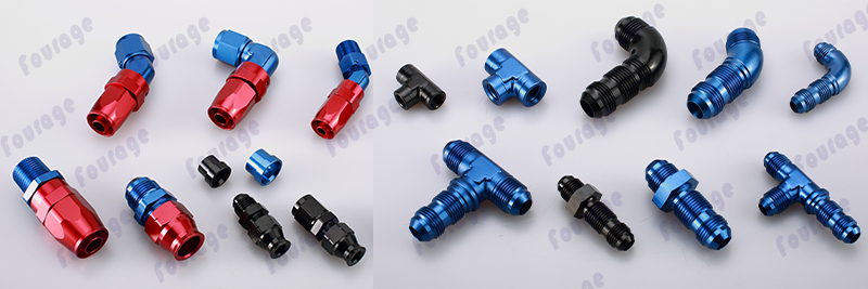 Auto Parts Vehicle 90 Degree Forged Male NPT Thread to Hose Barb adapter Fittings Aluminum Anodized