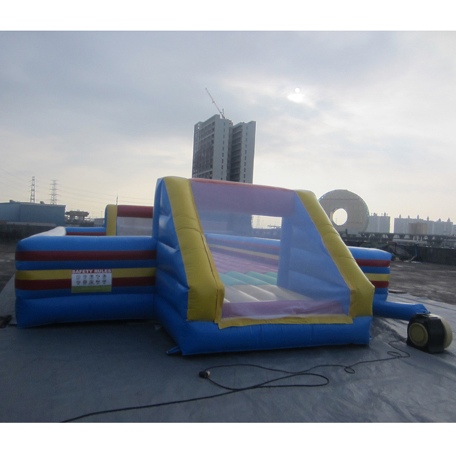 Funny commercial high quality inflatable soap football game with bottom