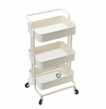 Office Kitchen Bedroom Garden Bathroom Metal Rolling Organization Storage Utility  Cart Trolley On Wheels