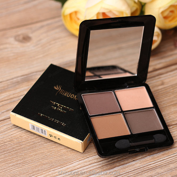 4 color matte eye shadow palette professional eye makeup private label