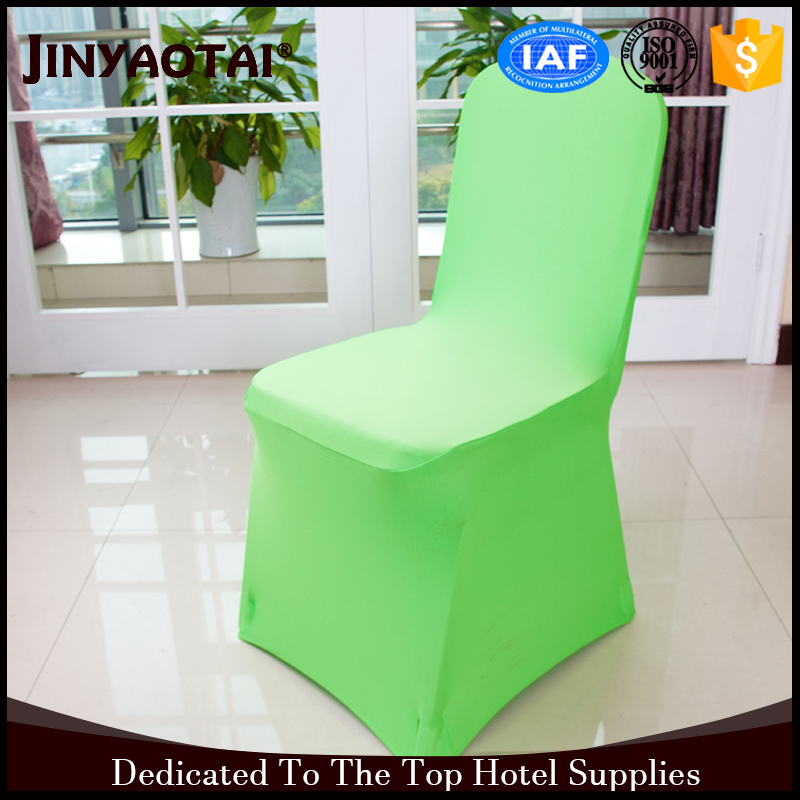 arm wholesale spandex/polyester green fireproof chair cover