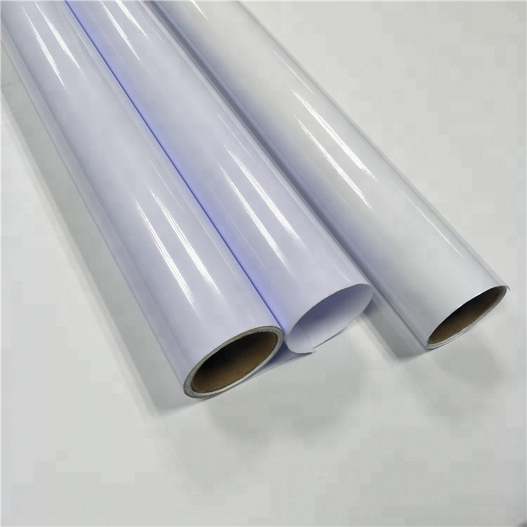 car body wrap sticker,vinyl sticker material for car and bus,50 M hot sale self adhesive white vinyl