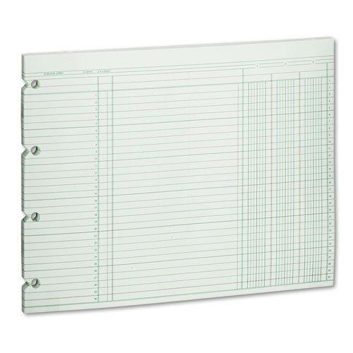 Wilson Jones - Accounting Sheets, Three Column, 9-1/4 x 11-7/8 , 100 Loose Sheets/Pack, Green G10-3 (DMi PK