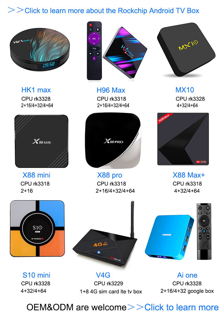 OTA update X88 Pro RK3318 android 9.0 tvbox 2gb 4gb ram full hd media player 3d converter box
