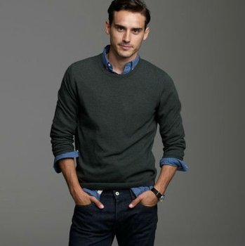 Mens Blended Cashmere Sweater Crew Neck Pullover Swt-l8106 - Buy ...