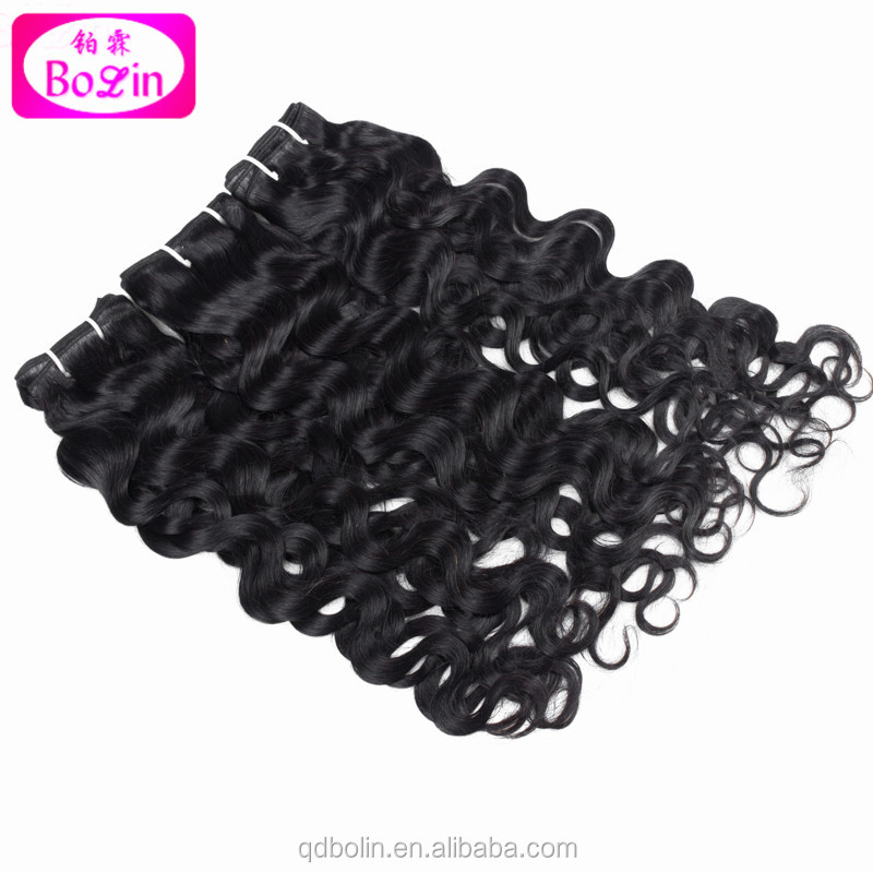 Virgin Hair Brazilian Water Wave 3 Bundle Brazilian Human Hair Weaves Wet and Wavy Virgin Brazilian Hair Natural Wave Weft