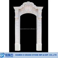 French Window Frame In Stone Carved White Marble Stone Window Frame