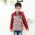 Kindstraum 2016 New Boys Winter Plaid Duck Down Jacket Sport Outwear Warm Coat Fashion Thick Winter