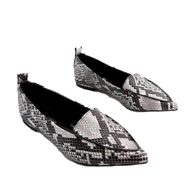 5d92d0739c007 Quality Pointed Toe Woman Flats Comfort Walking Work Shoes Snakeskin  Leopard Suede Loafers - Buy Casual Shoes Women Flats,Flat Office Ladies ...