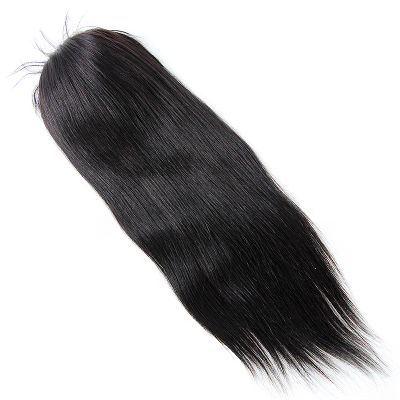 Virgin Human Hair 1B# Off Black 6 by 7 Black Lace Color Human Hair Toupee For Women 230% Density