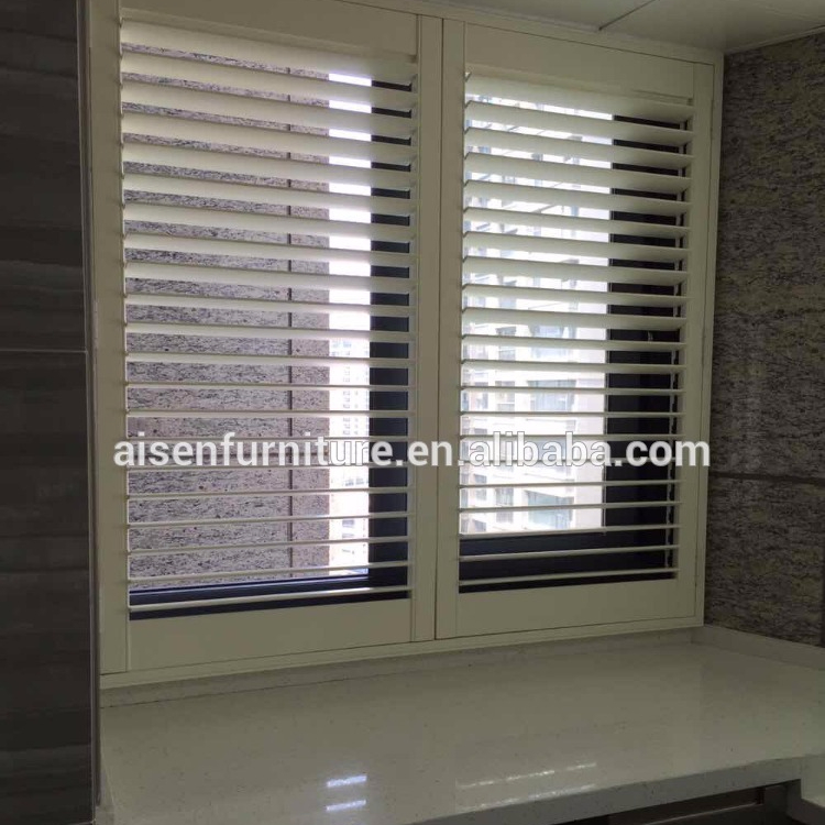 White Stained Home Furniture Natural B Wood Window Plantation Shutters