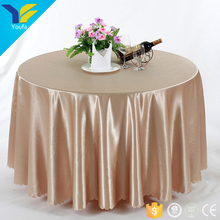 Champagn embossed edge jacquard round wedding chair covers and tablecloth