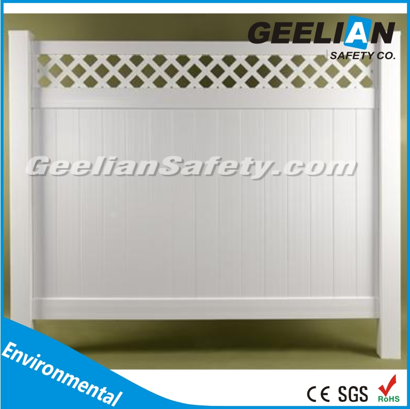 high quality Decorative Easily Assembled WPC gray plastic lattice panels