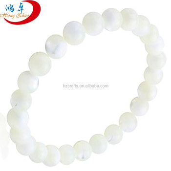 Wholesale High Quality White Jade Gemstone Beaded Bracelets Charms Beads
