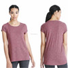 Short Sleeves V Neck Active Top Plain Sports Tshirts T Shirt T-Shirt Tee Shirt For Women