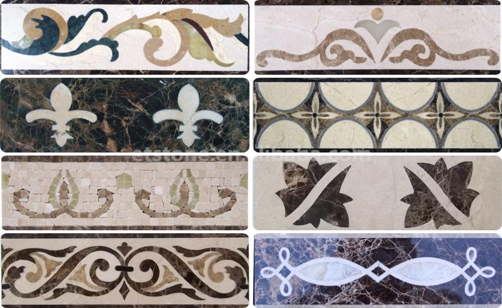 Marble Flooring Corner DesignsDecorative Stone Border