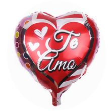 Wholesale aluminum 18inch heart foil Spanish love Birthday Party Decoration children's toys wedding decorating wish balloon